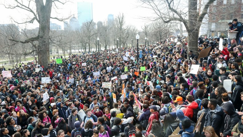 Students from more than 40 Boston Public Schools will hold a walk-in Wednesday