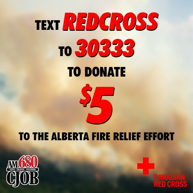 Want to help those impacted by #FortMacFire - Canadian Red Cross taking donations. https://t.co/SPodz8Mhih https://t.co/UsOxQplUSQ