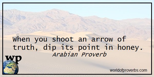 Arabian Proverb —        When you shoot an arrow of truth . . .  || #Quotes  https://t.co/T6Mv8fm0YW