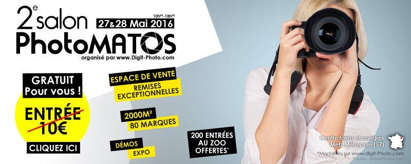 Imprimez votre entrée #gratuite pour le 2e Salon PhotoMATOS à #Metz (dpt 57) les 27-28 mai https://t.co/nGrWu3Q5rb https://t.co/sJjDLNmxRO