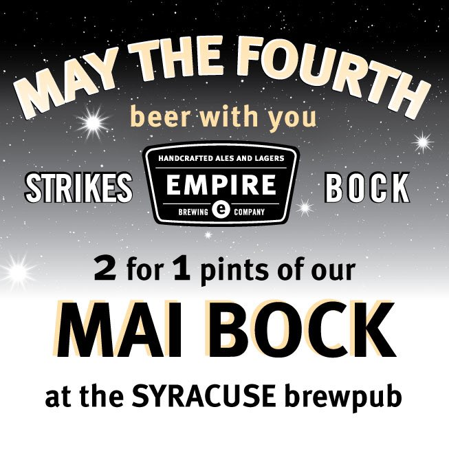 """Empire Brewing Co. On Twitter: """"May The 4th #beer With You"""