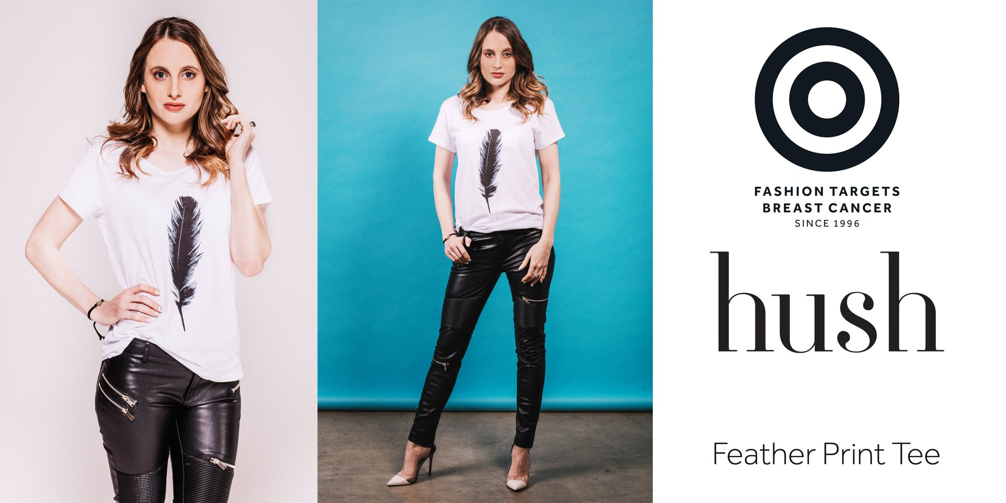 RT @breastcancernow: .@RosieFortescue in @hushhomewear tee for @FashionTargets - 30% donation to @breastcancernow https://t.co/sJGOWGlJoH h…