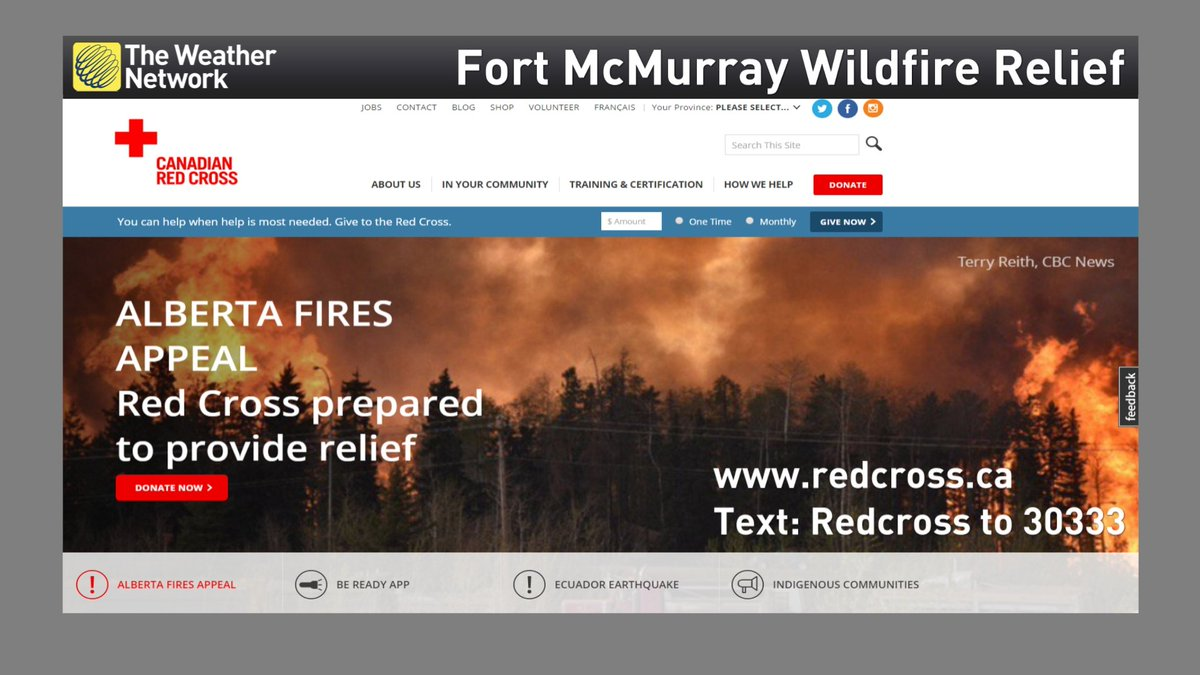 Canadians want to help out those enduring #FortMacFire. Cash is needed & @redcrosscanada is a safe place to donate: https://t.co/wif6CTlXos