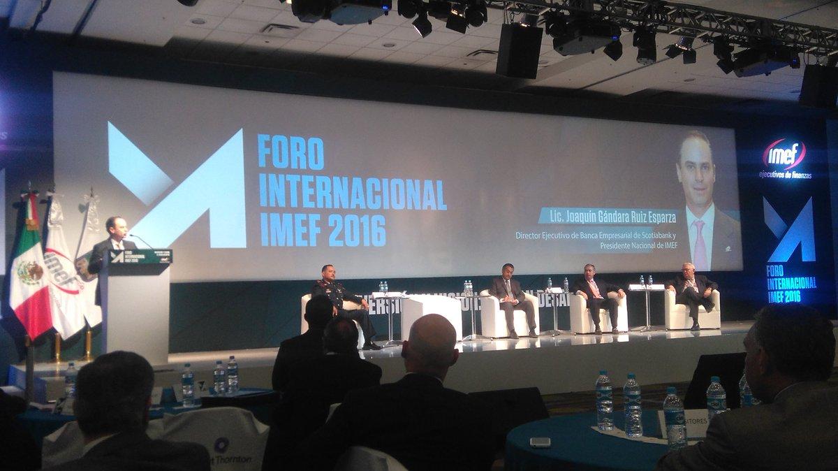"""""""Debemos fomentar la inversión en Nuevo León y México""""- @joaquingandara Presidente Nacional IMEF @IMEFOficial https://t.co/XuGUdGdqAD"""