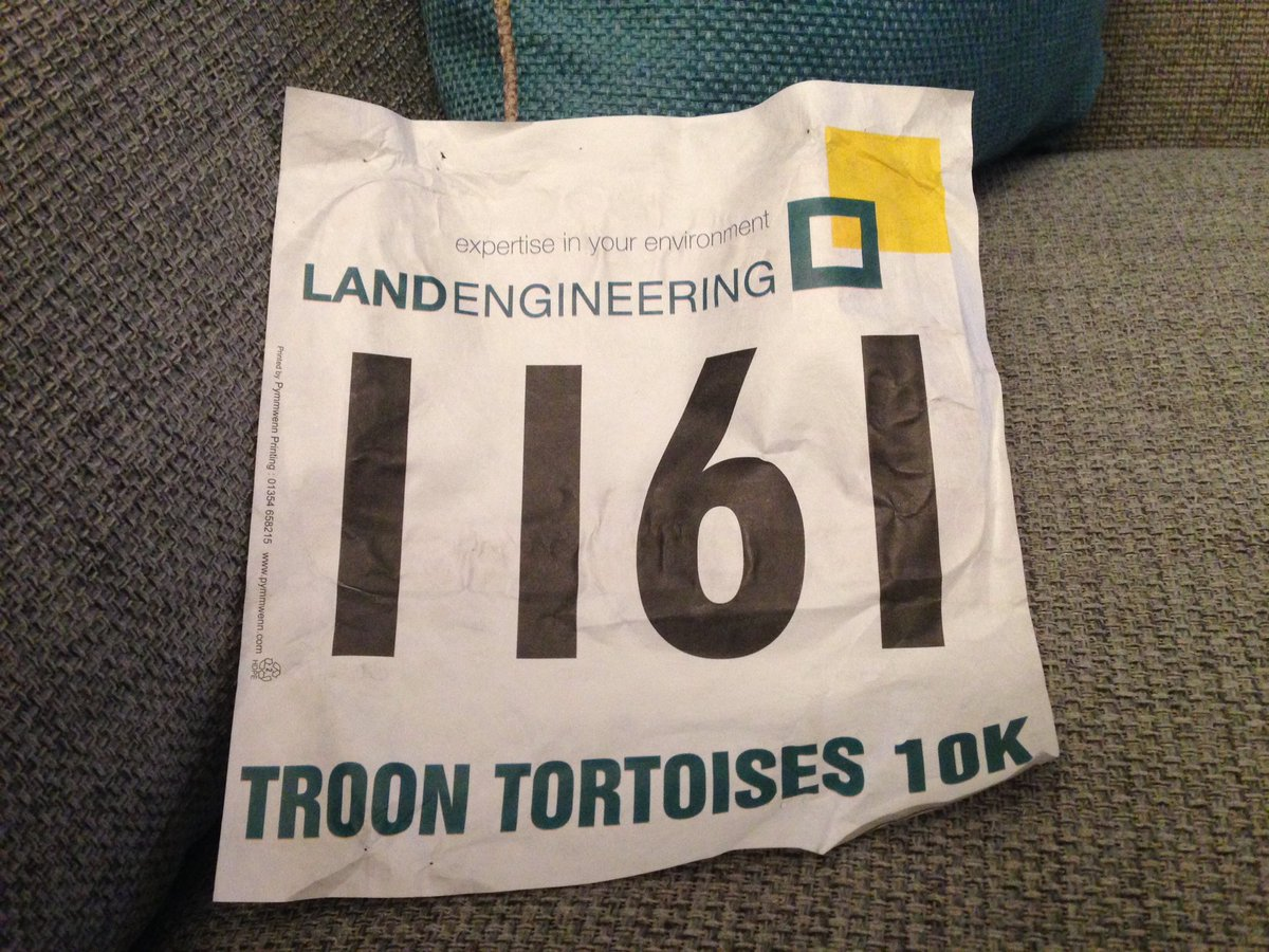 Just another Troon Tortoise @scotathletics Filthy night but we got there #thankssupportteam #Troon10k