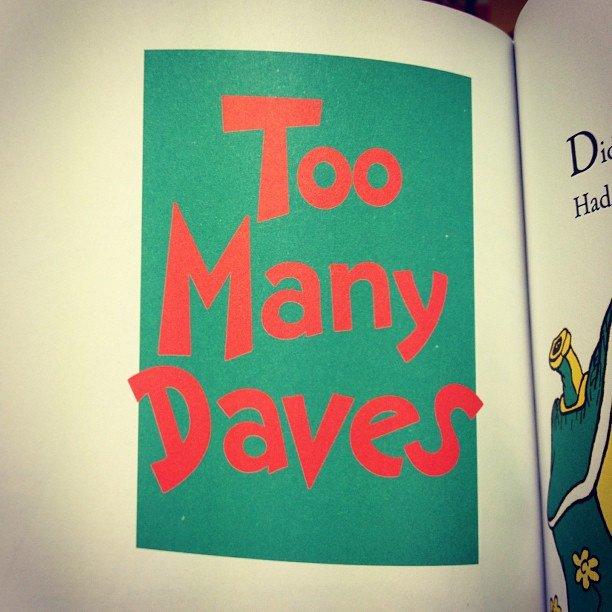 dr seuss too many daves