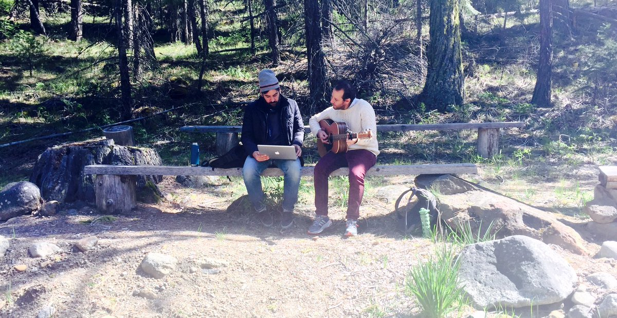Writing songs with @JoshRadnor in the mountains https://t.co/WFdNdebc61