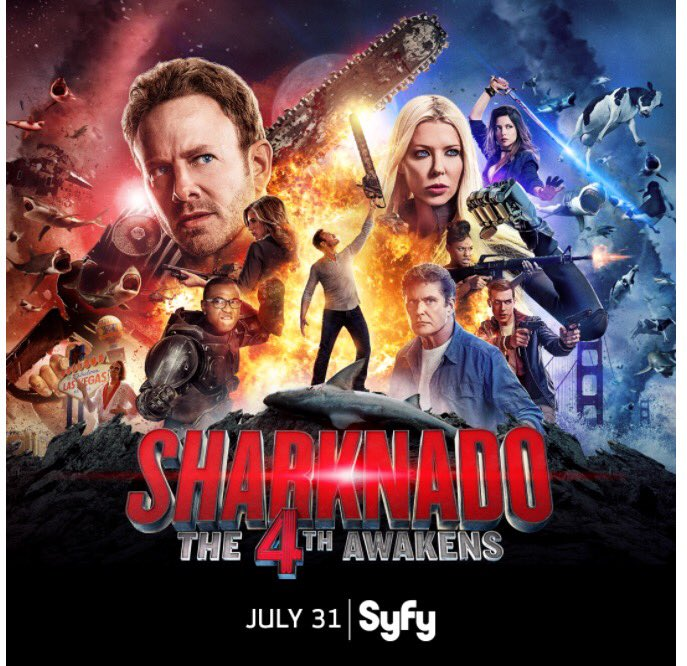 #MayThe4thBeWithYou. #Sharknado4 premieres July 31 on @Syfy! #The4thAwakens 🐬🌀⭐️ https://t.co/2YqsLO138f