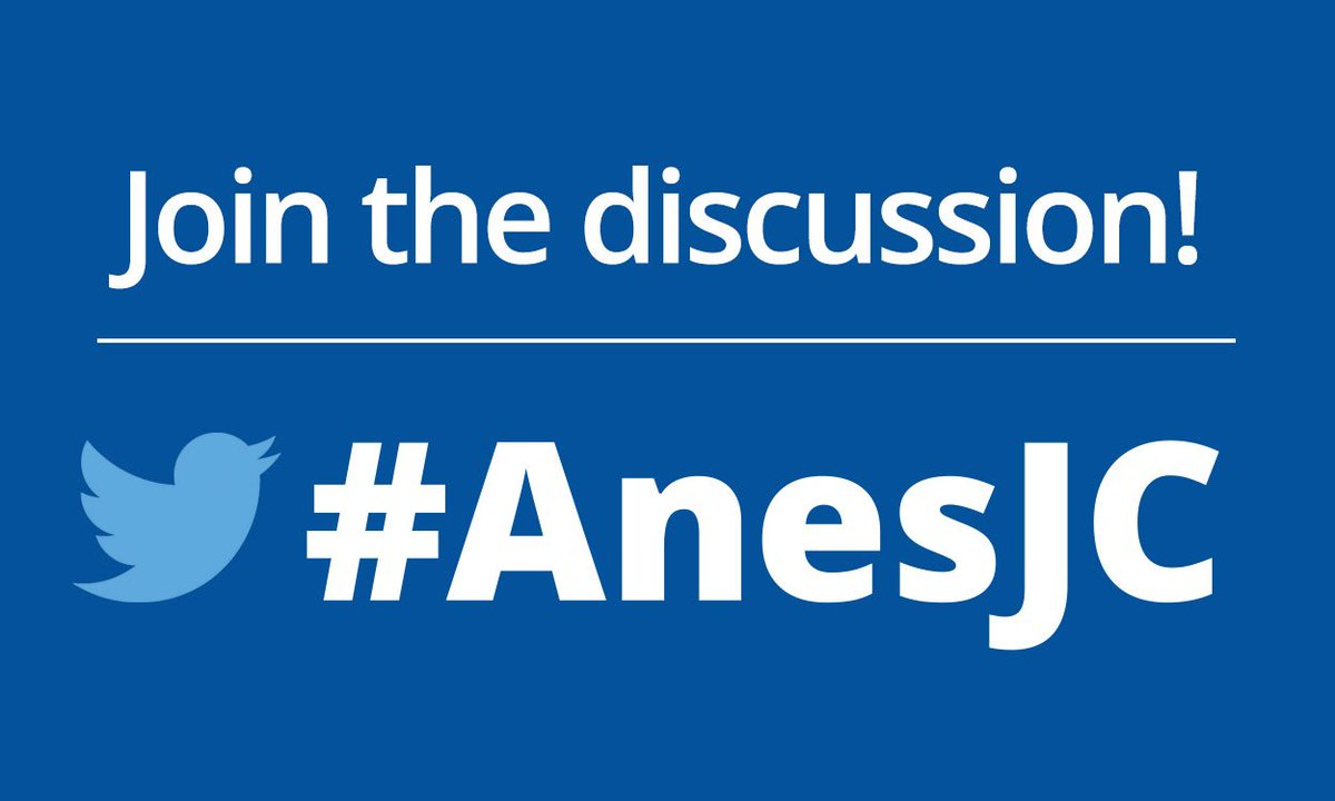 Get your fingers and minds ready, #AnesJC starts in 1hr https://t.co/rErt28Hxts