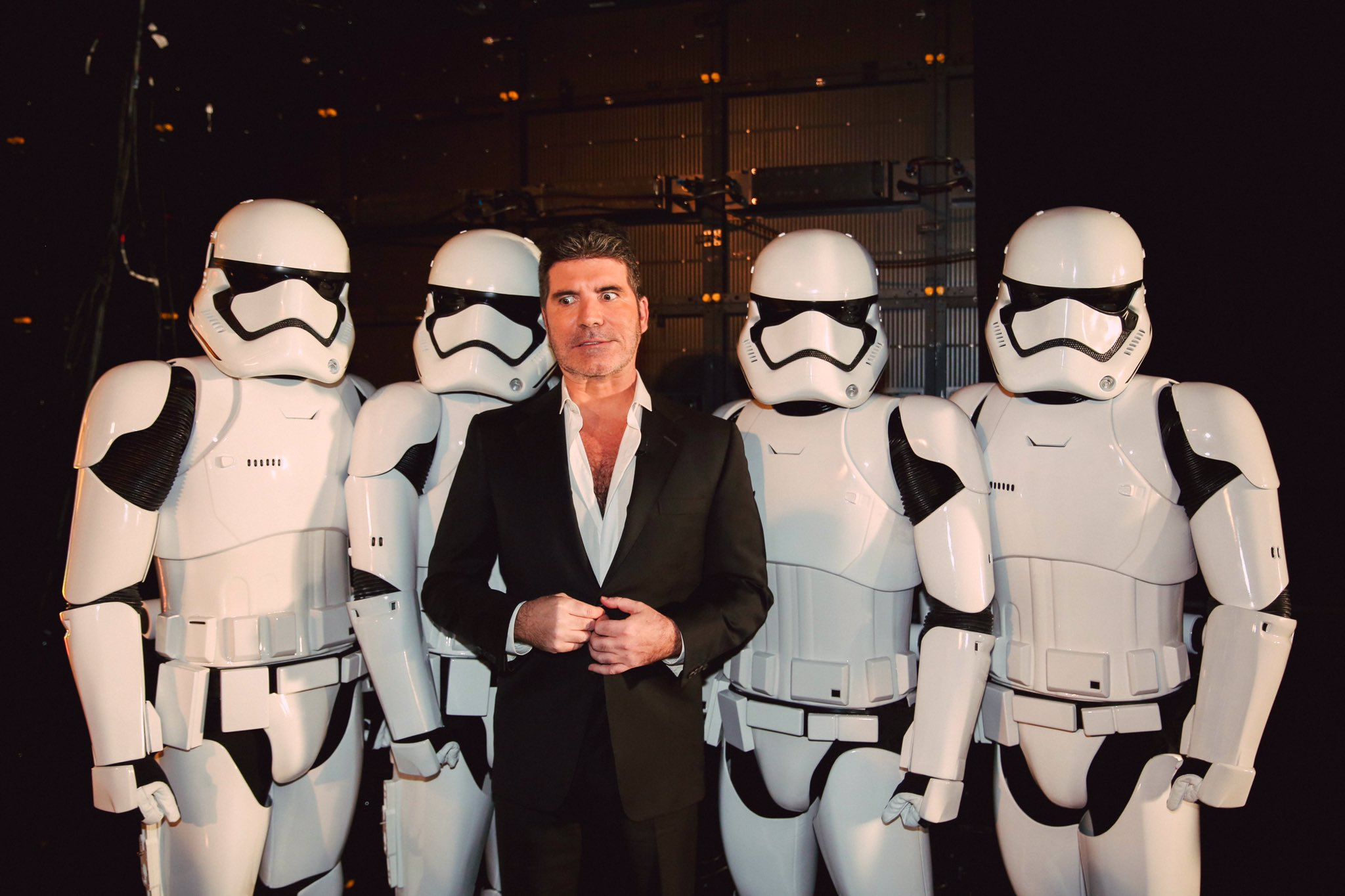Happy @starwars day! Flashback to this moment on @thexfactor. @simoncowell w/ Stormtroopers #MayThe4thBeWithYou 🚀 https://t.co/QTub3zbuEi