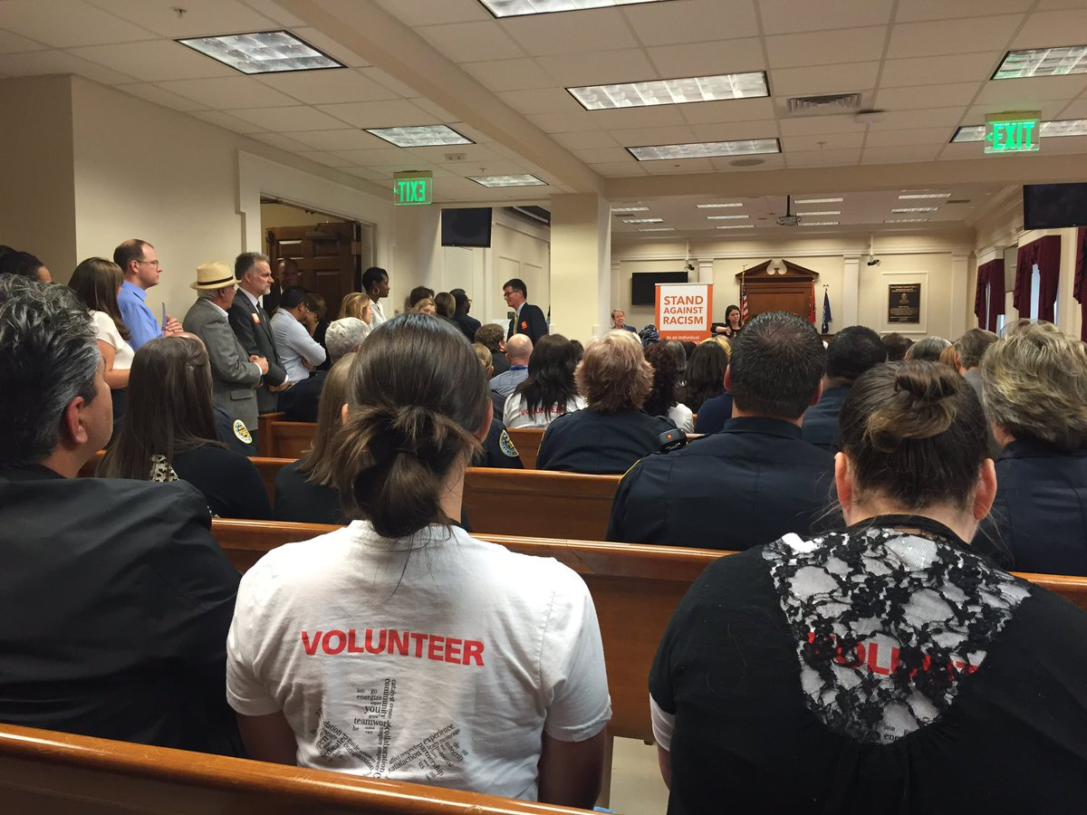 Standing room only in #MetroCouncil chambers, which makes sense for @YWCANashville #StandAgainstRacism. https://t.co/lCJRAIThLi