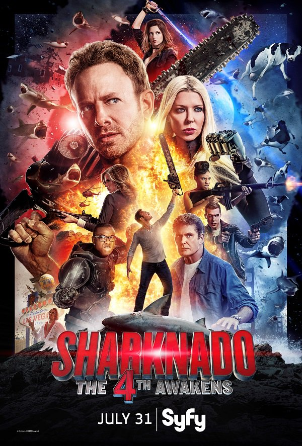 Channeling my very own superhero within..that's me on the @SharknadoSyfy poster out 2day premiering 7/31 #Sharknado4 https://t.co/mWjF46XSvH