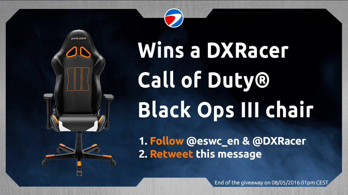 DXRacer Giveaway!  - Follow @eswc_en & @DXRacer - RT to win  https://t.co/j9r9JiIS4L