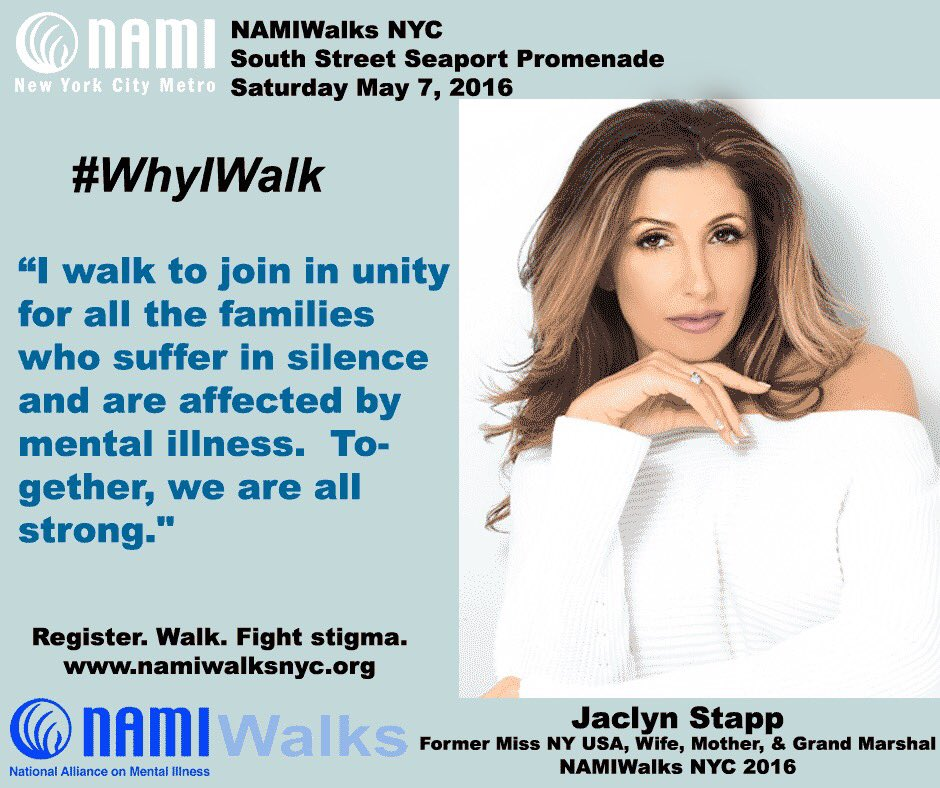 Honored to be the Grand Marshall of the 10thAnnual NAMIWalks NYC  #mentalhealthmonth #NAMIWalk #2016 #IWILLLISTEN https://t.co/vj6zMkQH7E