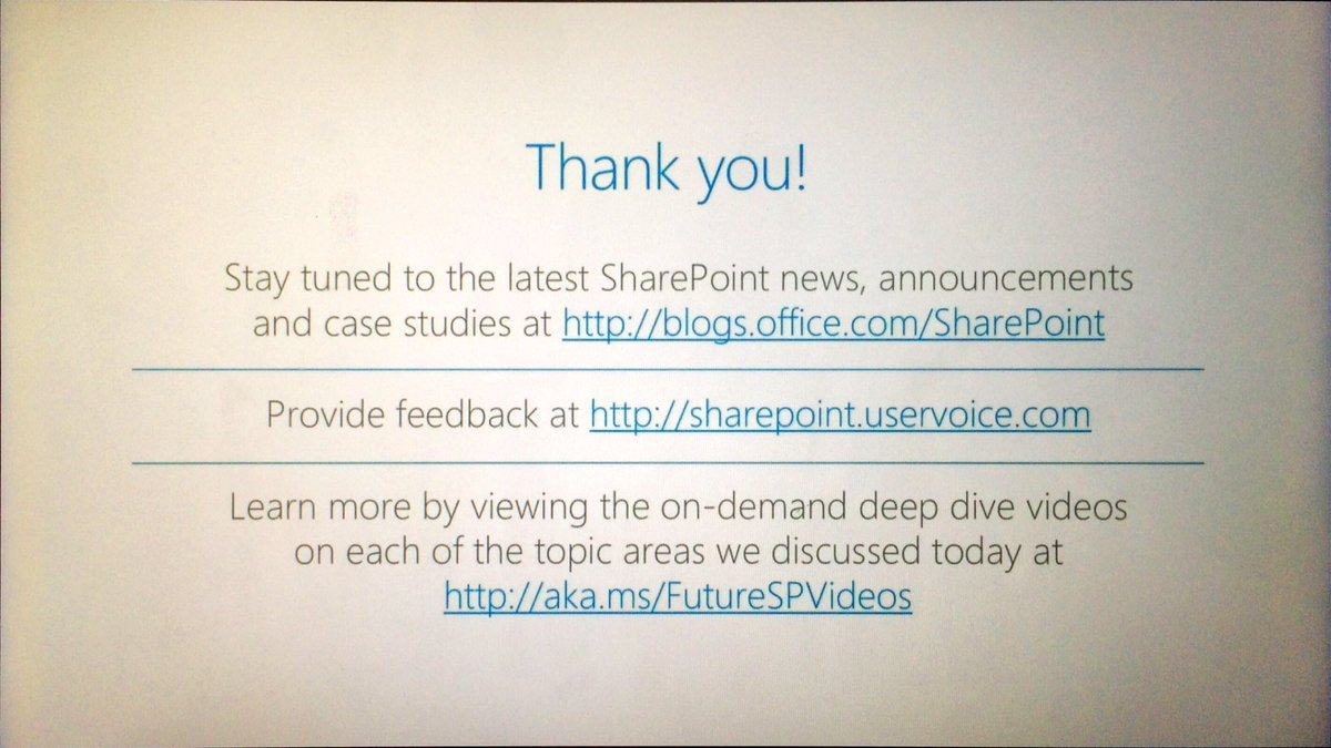 More resources for #FutureofSharePoint https://t.co/CASpJG5Sf7