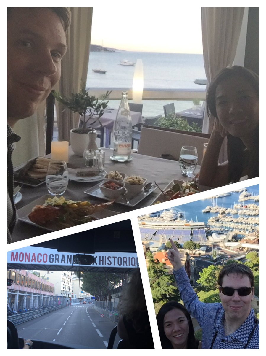 Drove the f1 starting line then had an amazing dinner while celebrating my wife's birthday in Monte Carlo, Monaco https://t.co/g22JkBrgrn