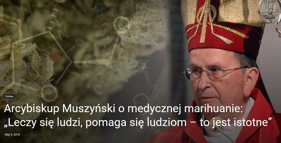 """Arcybiskup Muszyński o medycznej marihuanie: """"Leczy się ludzi, pomaga się ludziom – to jest istotne"""" – Cannabis News"""