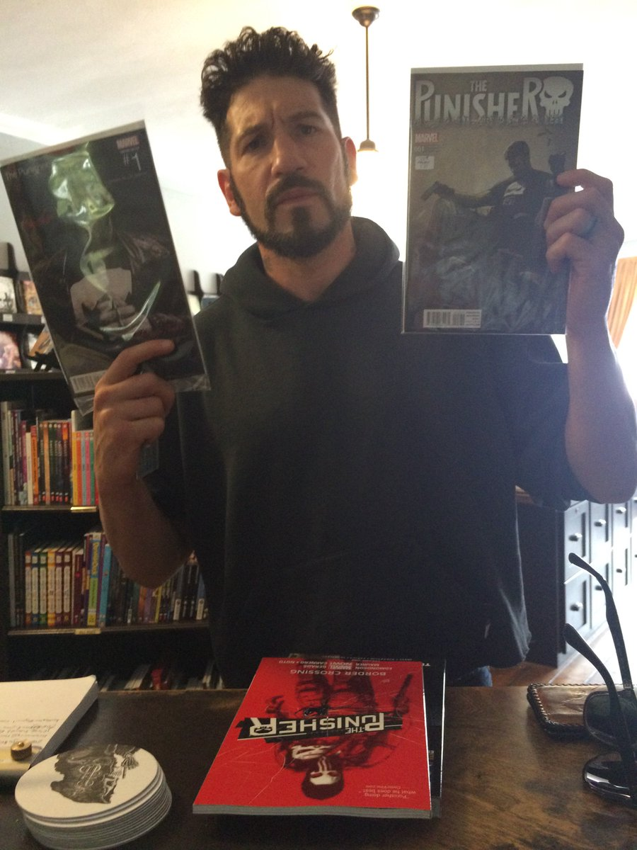 The Punisher himself came by the shop to scope out his new comic!!  @jonnybernthal Thanks buddy! https://t.co/BD3JKb2sni