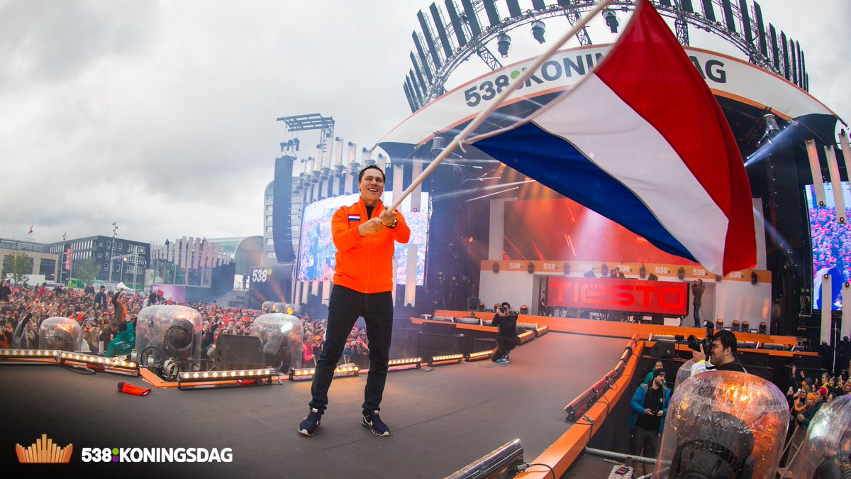 Flying our flag last week on #KingsDay #Koningsdag #TBT