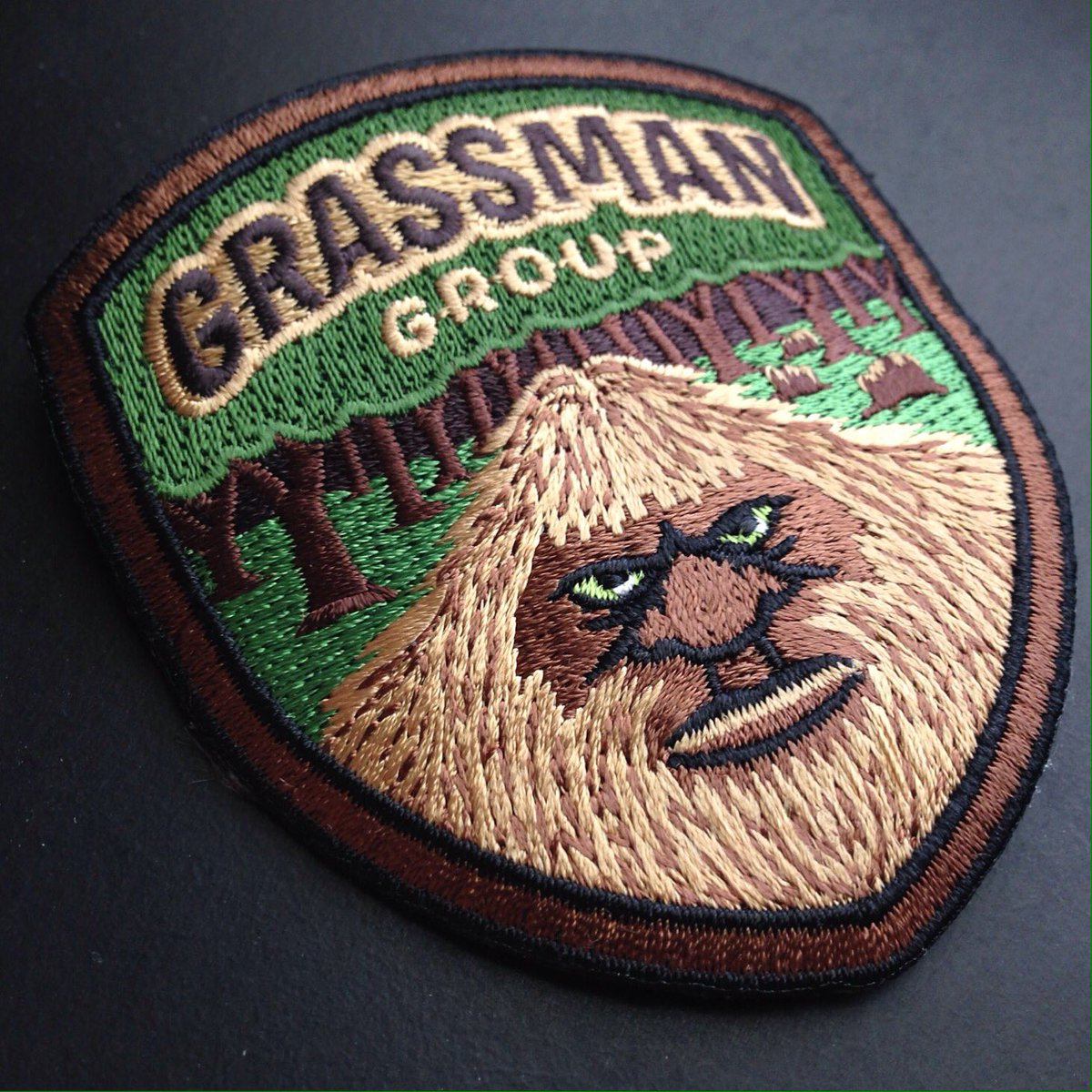 The Grassman Group patches arrived, and they look superb. Grassman = Ohio Bigfoot. #ohiobigfootconference https://t.co/VJQ5TqH87Q