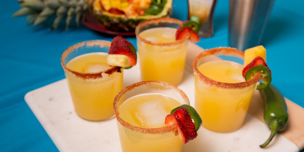 "Shake up one of our Mango Margaritas (aka ""Party in a Glass"") for your #CincodeMayo. https://t.co/hWcChNAgjE https://t.co/UJQj6gE3nD"