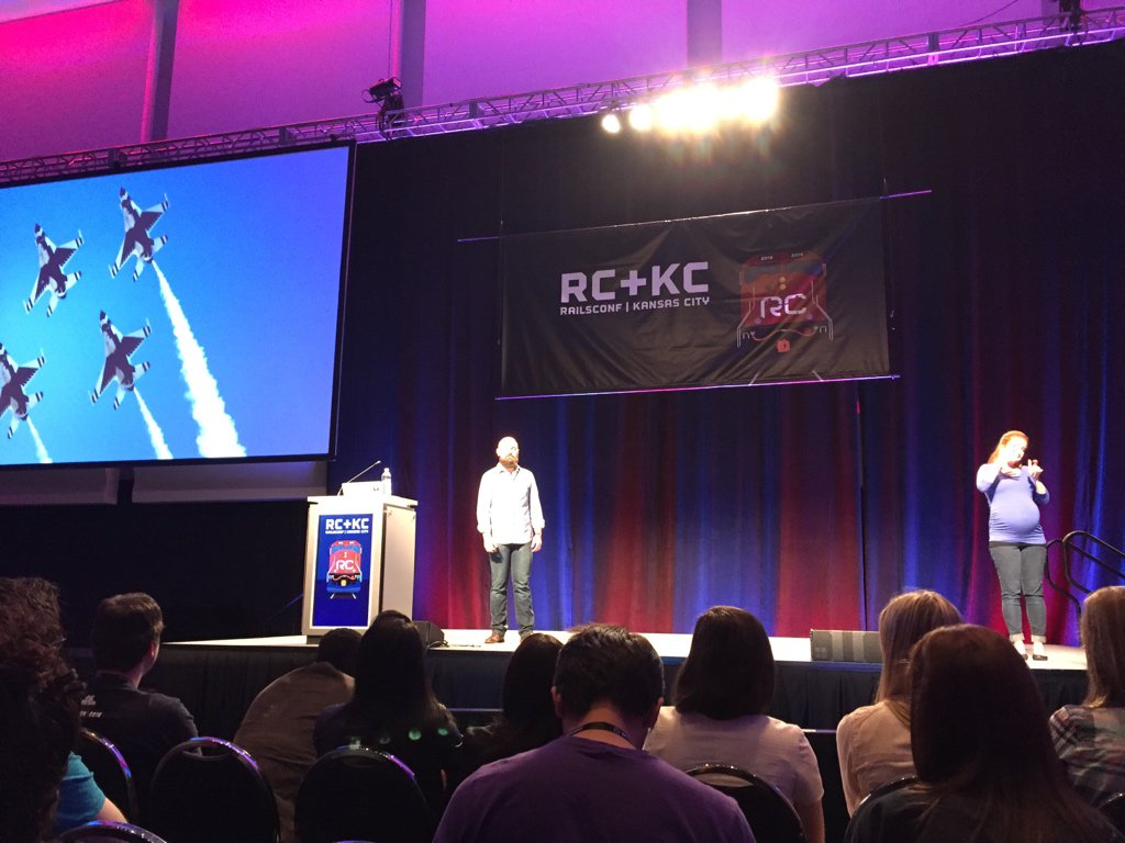 Great keynote by @nmeans closing #railsconf 1st day. What was your favorite talk today? https://t.co/RS2FTwFwza