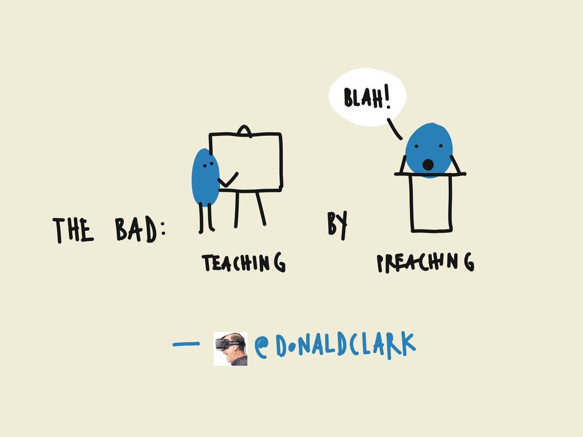 Let's not teach by preaching @DonaldClark #AITD2016 https://t.co/58SKnkzcje