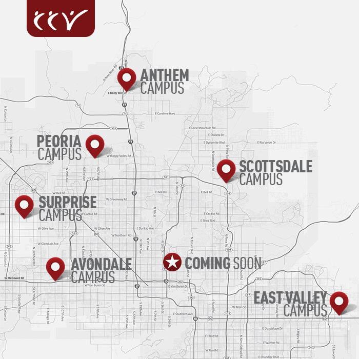 Ccv Peoria Campus Map.Ccv On Twitter We Re Excited To Further Reach This Valley With The