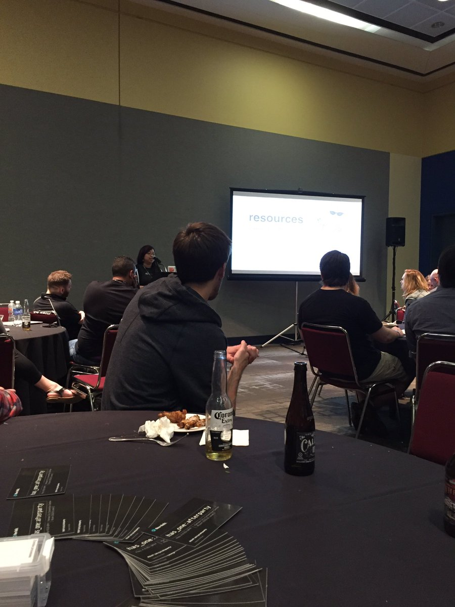 Nice talk from @kwugirl at the #railsconf @newrelic after party https://t.co/phUlXZFnWH