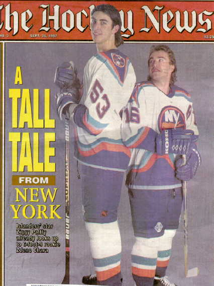 Jen On Twitter Rookie Zdeno Chara With Ziggy Palffy On The Cover Of The Hockey News Isles