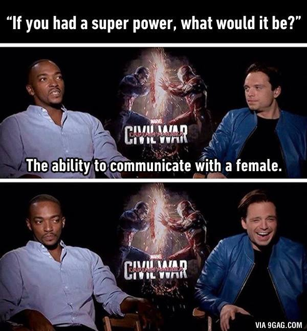 All men should have this superpower #CaptainAmerica #Bucky #TheFalcon https://t.co/RkjVFNUmd9 https://t.co/BNhRU25Edm