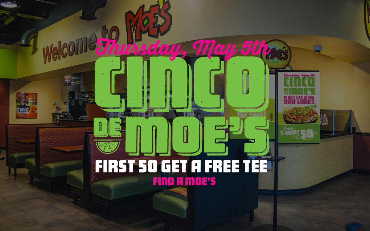 Didn't get a #CincoDeMoes T-shirt? Never fear! RT this post for the chance to win one (winners randomly selected). https://t.co/RTFu8h2TOQ
