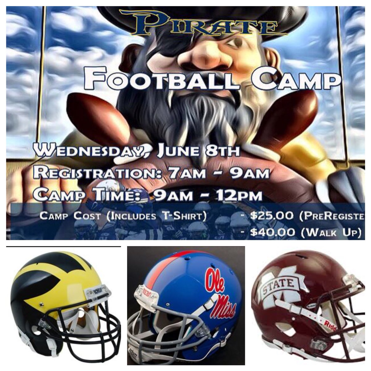 John Perry On Twitter Pearl Pirate Football Camp Coming Soon