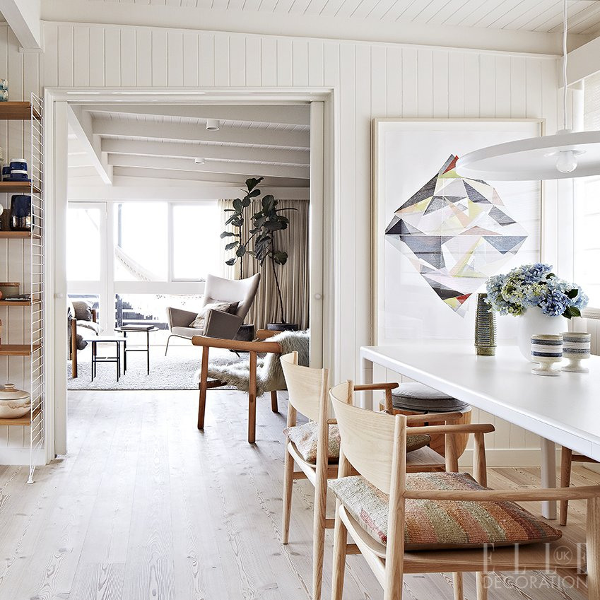 Raw and white wood creates an airy aesthetic in this for Dining room 211 melbourne