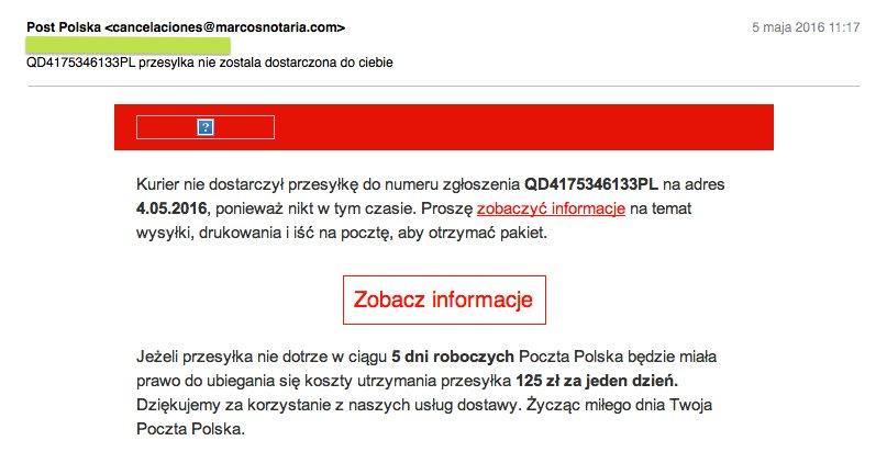 Uwaga na fałszywe maile od Poczty Polskiej aliexpress aliholik alilove telchina chińskiecuda wykop everythingaliex podatek kurier numer śledzenia itemy z chin polska pl xiaomi scam