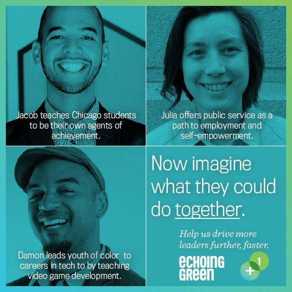 Meet @echoinggreen's 2016 Finalists—imagine what they can do TOGETHER: https://t.co/btXOHASRDx #socent #EGplus1 https://t.co/teXOsELg7R
