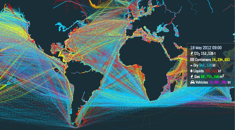 A remarkable #dataviz from @UCL_Energy of the world's shipping routes: https://t.co/dv6KwuaR8t via @voxdotcom