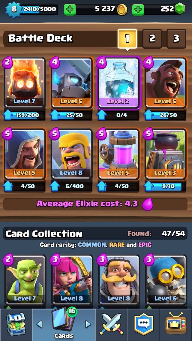 Chief pat on twitter let 39 s play clash royale ep 23 for Deck arene 6 miroir