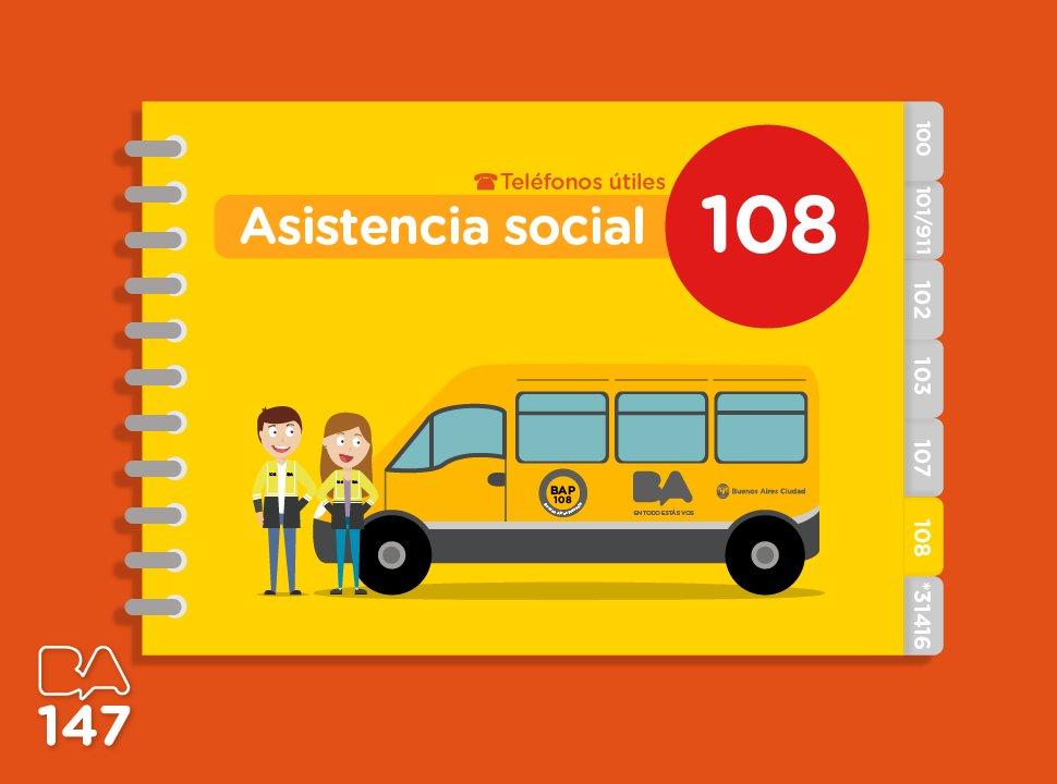 Si ves una persona en situación de calle, llamá al 108. ¡Ayudanos a ayudar a quienes más lo necesitan! https://t.co/IgaxZZGOCz
