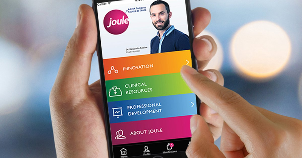 canadianmedicalassoc on twitter download the joule app today to