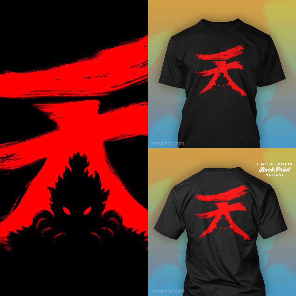 S On Twitter My Akuma Design Is Available On Front