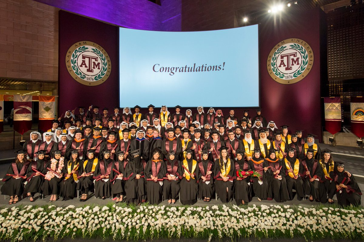 .@TAMUQ awards 109 degrees in its largest graduation ceremony to date https://t.co/GCFP4R9xQy https://t.co/H8b3LH8Z9h