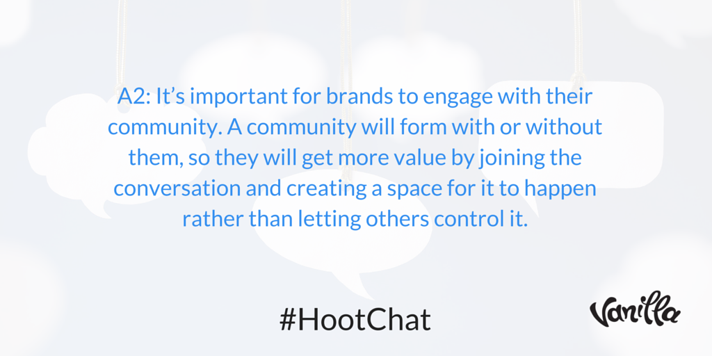 Q2: Why is community important to brands? #HootChat A2: https://t.co/ZPOtCDhMTu