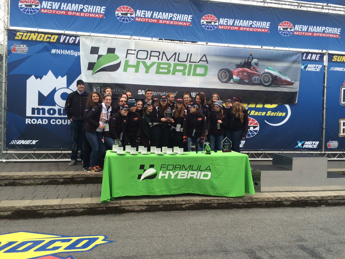 The GM 2016 Spirit of Formula Hybrid award goes to RIT @RITHotWheelz @Formula_Hybrid #FormulaHybrid16 https://t.co/NoGmYcU8BE