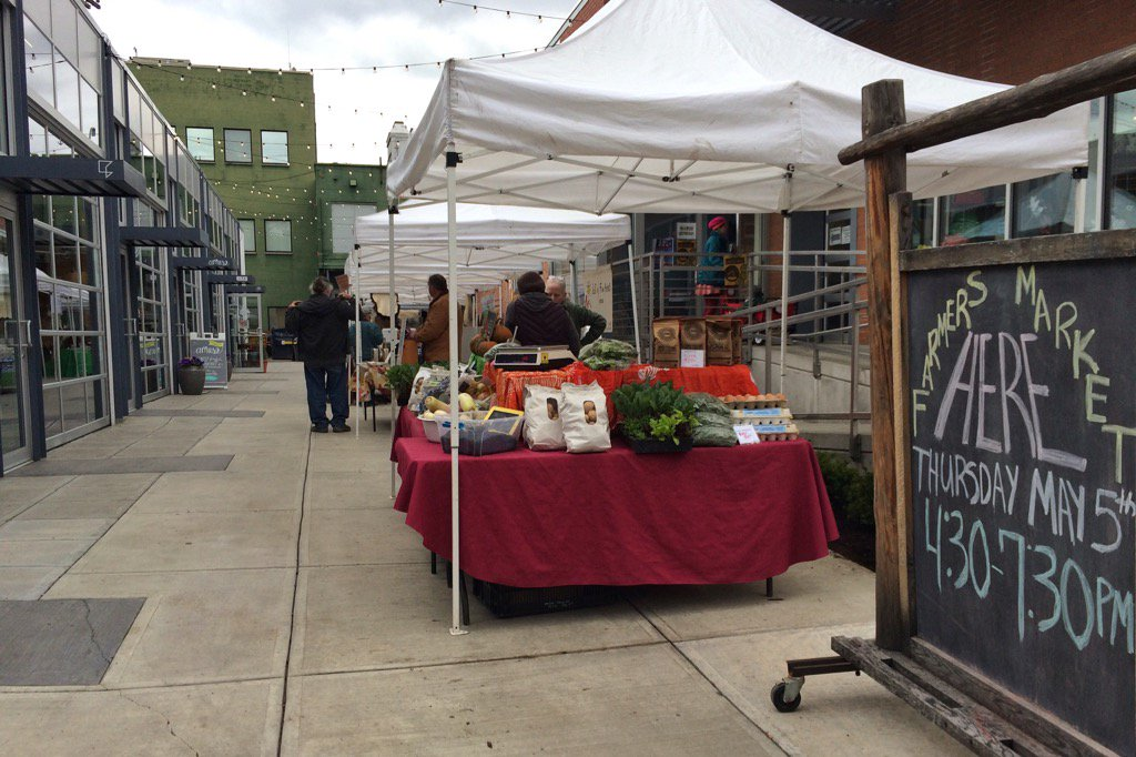 The downtown Farmer's Market has started! We are open showcasing lots of great stuff (including a boat!) #twithaca