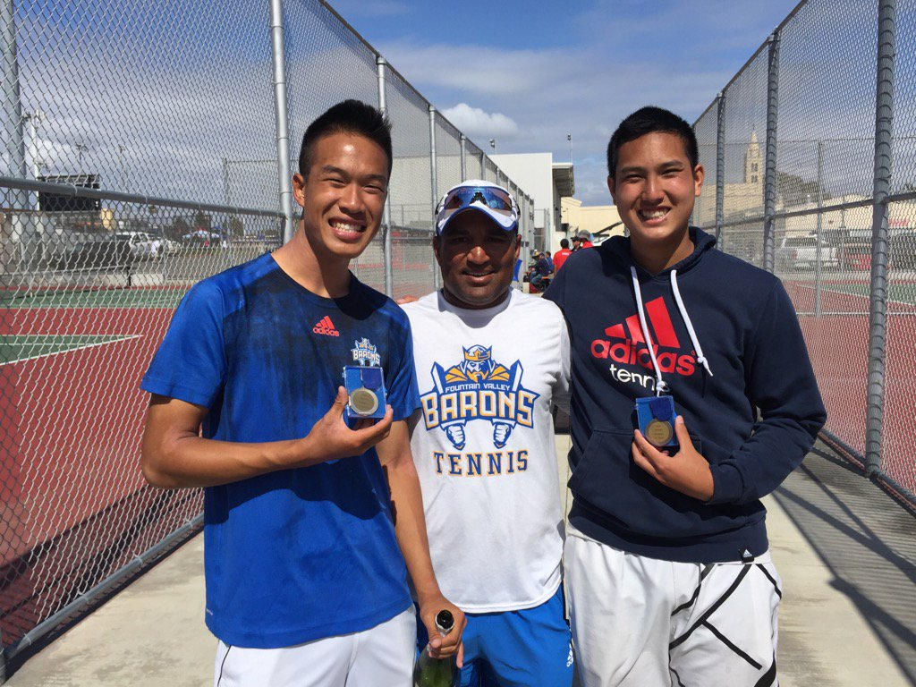 ChuhJp8UUAA7dVn Fountain Valleys Team Nguyen becomes new Sunset League Doubles Champions