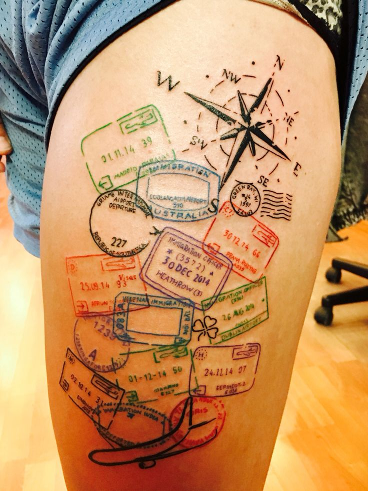 Image result for compass and map tattoo