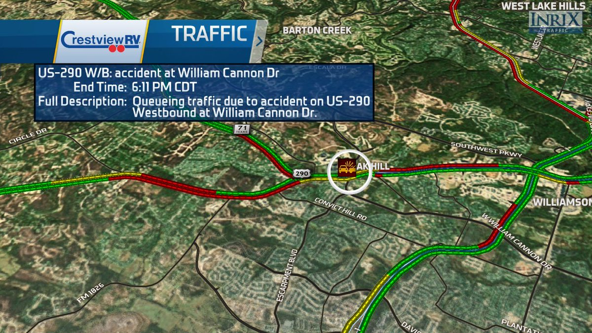 Accident William Cannon Oak Hill : TRAFFIC Accident William