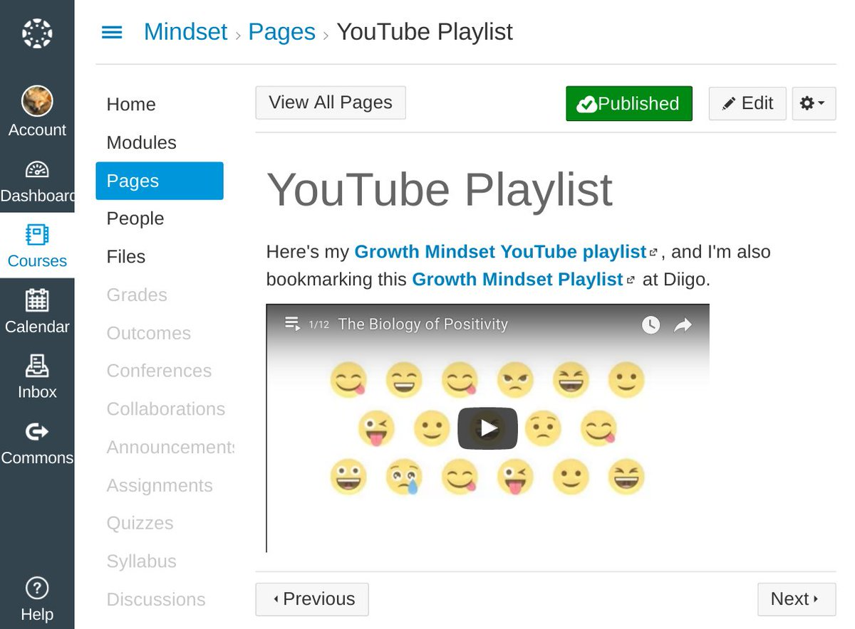 happy with the YouTube playlist page in Canvas Live Content / #GrowthMindset demo: https://t.co/6Z8kamabS5 #OU_LMS16 https://t.co/MJ4eKyfGPl