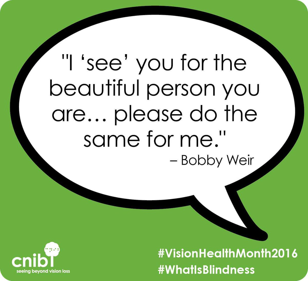 #VisionHealthMonth2016#WhatIsBlindness #CNIB https://t.co/DncGTsD5wT